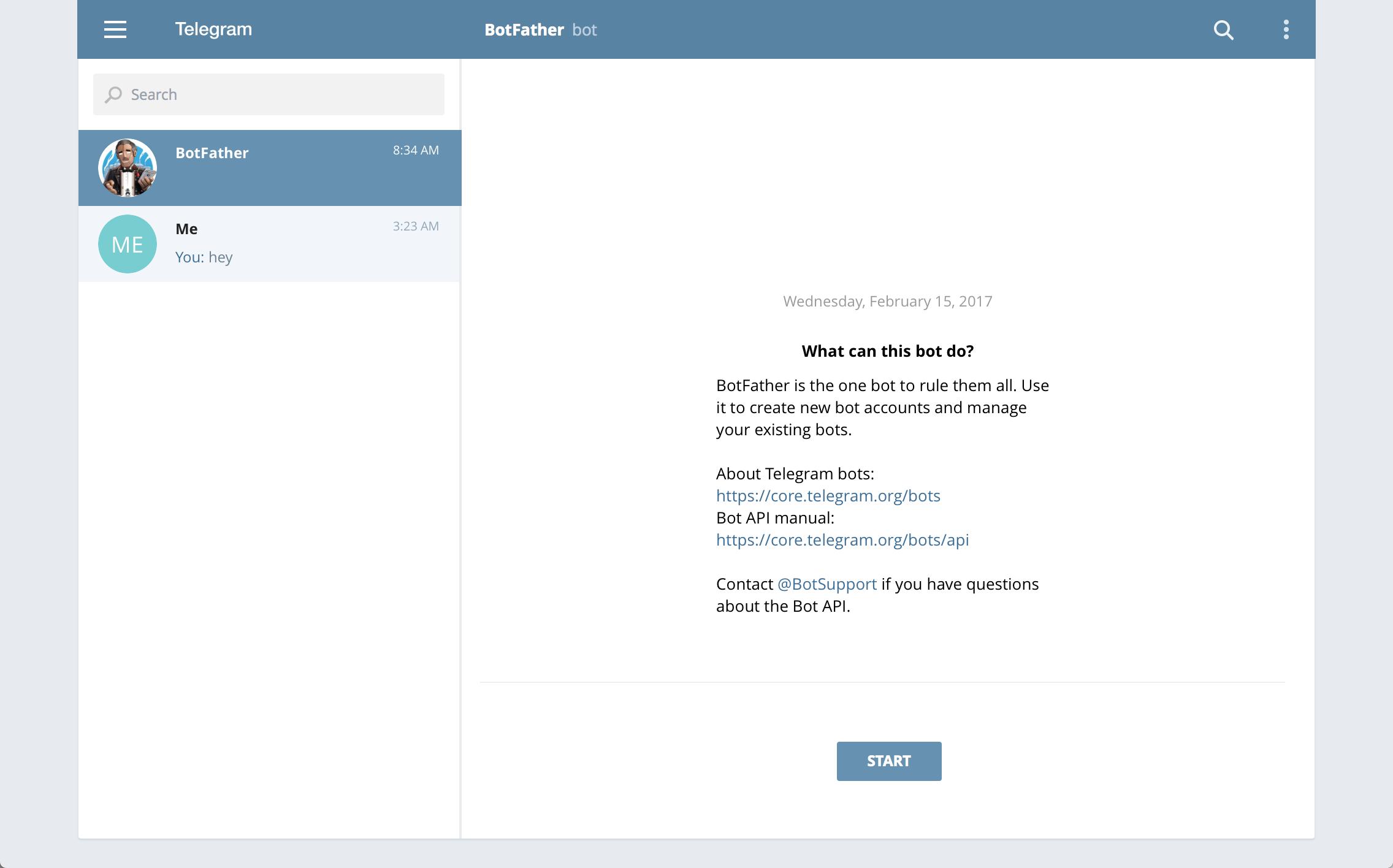 Telegram — Zammad documentation